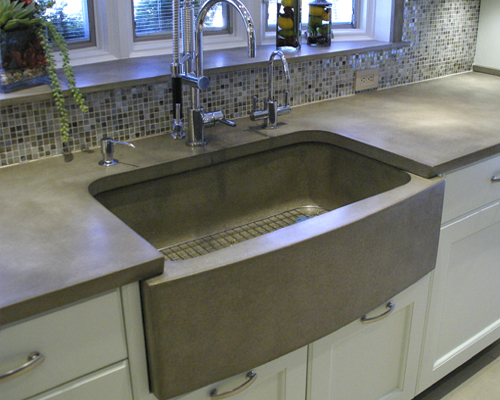 Brilliant Concrete Farm Sink Kitchen 500 x 400 · 215 kB · jpeg