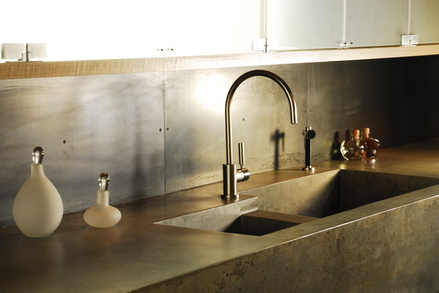 Attirant Concrete Country Kitchen Sink Built In Kitchen Sink ...