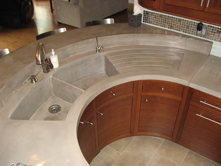 Custome Kitchen Sink Formed Concrete Sink