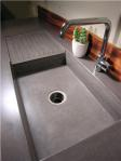 Custom concrete sink