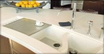 Formed concrete sink